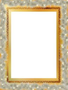 Elegant Christmas Card. EPS 8 Stock Image