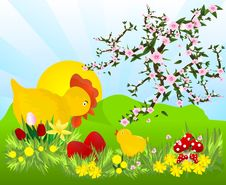 Free Easter Time, Cdr Vector Royalty Free Stock Image - 18507476