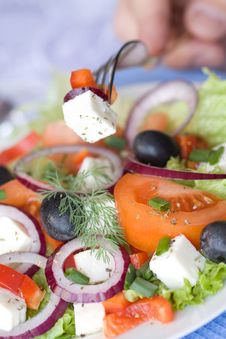 Free Healthy Greek Salad Royalty Free Stock Photo - 18507655