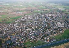 Aerial View Of The Village Of Bavel (Netherlands) Royalty Free Stock Photography