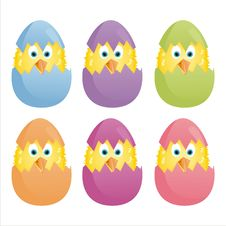 Free Colorful Easter Eggs Stock Image - 18508261