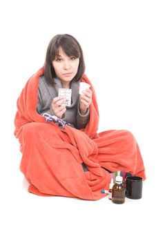 Free Sick Woman Stock Images - 18508414