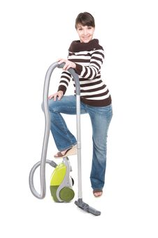 Free Woman With Vacuum Stock Images - 18508574