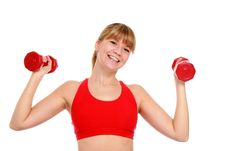 Free Beautiful Young Girl Doing Fitness Exercises. Stock Photo - 18508950
