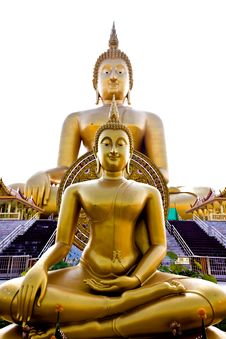 Free Golden Buddha Statue Stock Images - 18509234
