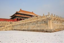 Free Forbidden City After Snow Stock Photo - 18509260