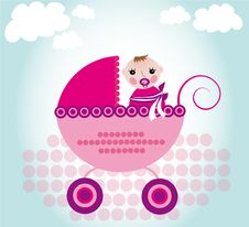 Free Baby In Carriage Royalty Free Stock Images - 18509579