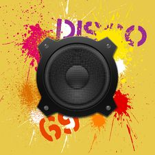Free Party Design Element With Speakers Royalty Free Stock Images - 18509739