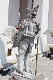 Native Thai Style Of Half Angle Half Bird Stock Photo