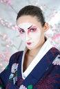 Free Japan Geisha Woman With Creative Make-up Royalty Free Stock Image - 18510916