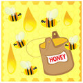 Free Bees And Honey Stock Photos - 18513983