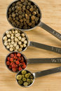 Free Peppercorns In Spoons Stock Images - 18517254