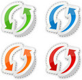 Free Arrow Stickers. Royalty Free Stock Images - 18519689