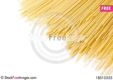 Free Uncooked Spaghetti Royalty Free Stock Photo - 18510555