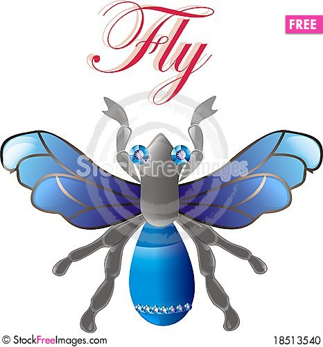 Jewel fly. vector Stock Photo