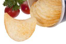 Free Potato Chips Royalty Free Stock Photography - 18510607
