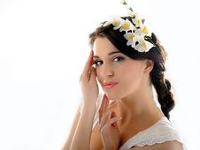 Free Beautiful Fresh Spring Woman With Flowers Stock Photography - 18510982