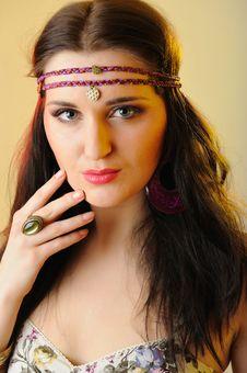 Free Beautiful Fashion Woman With Creative Make-up Stock Photo - 18511040