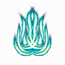 Free Blue Flames Royalty Free Stock Images - 18512139