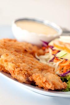 Batter-fried Pork Salad Stock Image