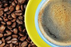 Free Coffee Beans And Cup Stock Photos - 18512463