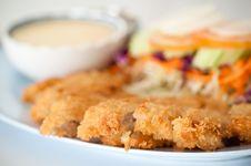 Free Batter-fried Pork Salad Royalty Free Stock Photo - 18512475