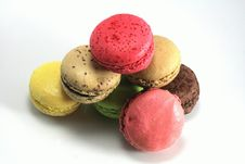 Macaroons With Varied Colors Royalty Free Stock Images