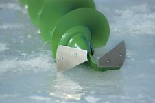 Free Ice Fishing - Auger Royalty Free Stock Photography - 18513227