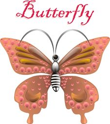 Free Jewel Butterfly. Vector Stock Image - 18513531