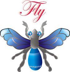 Free Jewel Fly. Vector Stock Photo - 18513540