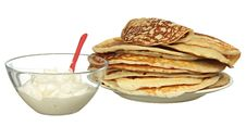Free Pile Of Pancakes Royalty Free Stock Photos - 18513598