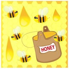 Bees And Honey Stock Photos
