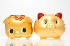 Free Saving Bank Pig Royalty Free Stock Images - 18515129