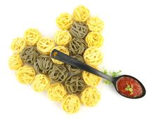 Free Heart Of Pasta Tagliatelle Royalty Free Stock Images - 18515559