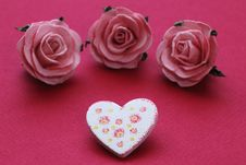 Patterned Heart And Roses