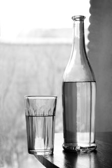 Free Glass And A Bottle Stock Images - 18515744