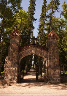 Free Old Cemetery Gate Stock Photo - 18515960