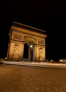 Free Arc De Triomphe Royalty Free Stock Photography - 18516167