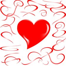Free Love Married Heart Background Royalty Free Stock Photography - 18517157