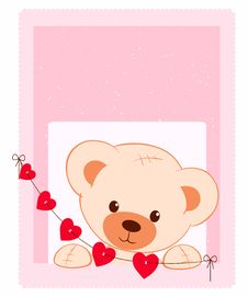 Free Teddy Bear Illustration Royalty Free Stock Images - 18517319