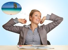 Free Businesswoman Bored In Office Royalty Free Stock Photo - 18517995