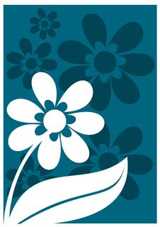 Free Floral Ornament In Blue And White Royalty Free Stock Photo - 18518135