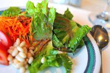 Close Up Of Fresh Salad Stock Photography
