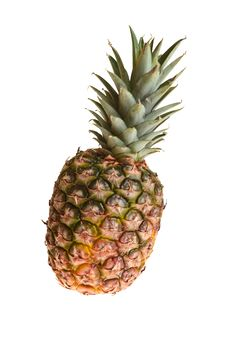 Free Pineapple On White Stock Photo - 18518550