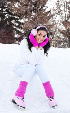 Girl Ice Skating Royalty Free Stock Images