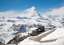 Free Matterhorn Peak Alps Royalty Free Stock Photography - 18519207