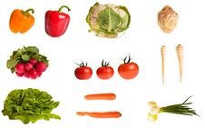 Free Different Vegetables Isolated Stock Image - 18519561