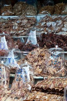 Free Dried Squid For Sale Stock Photo - 18519570
