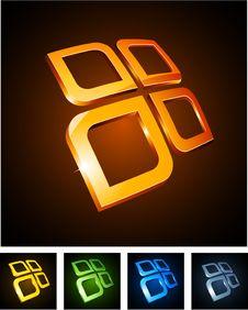 Free Color Vibrant Emblems. Stock Images - 18519694