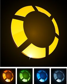 Free Color Vibrant Emblems. Stock Photos - 18519703